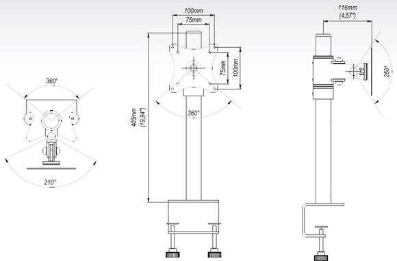 LC-SV01 - Uchwyty do biurka