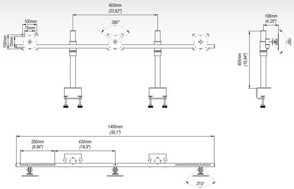 LC-SV10 - Uchwyty do biurka