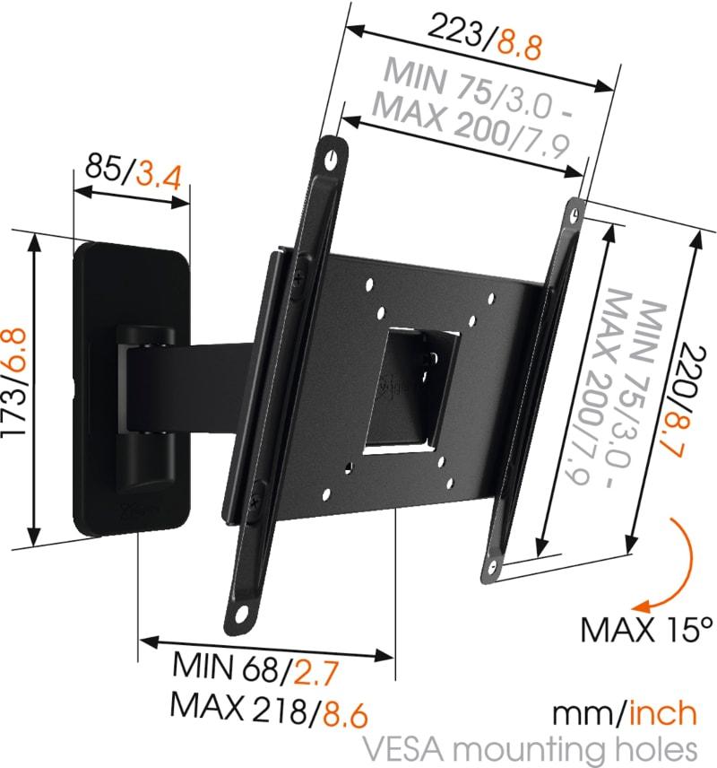 MA2030 - Ścienny uchwyt do telewizorów - Uchwyty do TV LCD / plazma / LED
