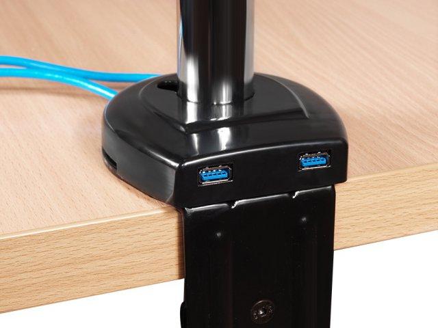 LC-UB 137 USB - Uchwyt biurkowy z regulacją - Uchwyty do biurka