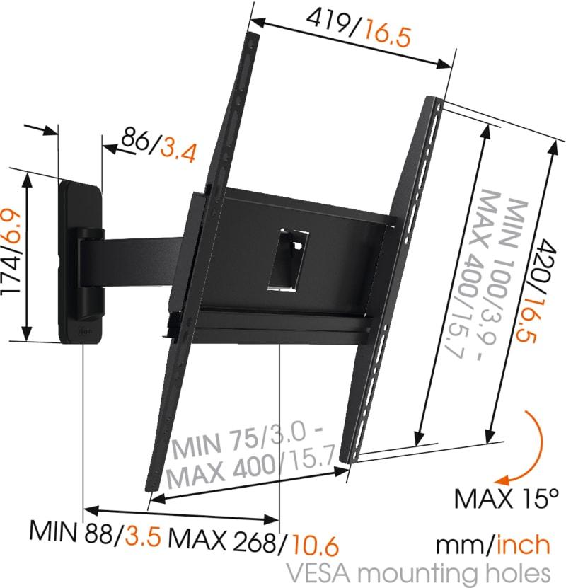 MA3030 - Ścienny uchwyt do telewizora LCD / LED / plazma - Uchwyty do TV LCD / plazma / LED