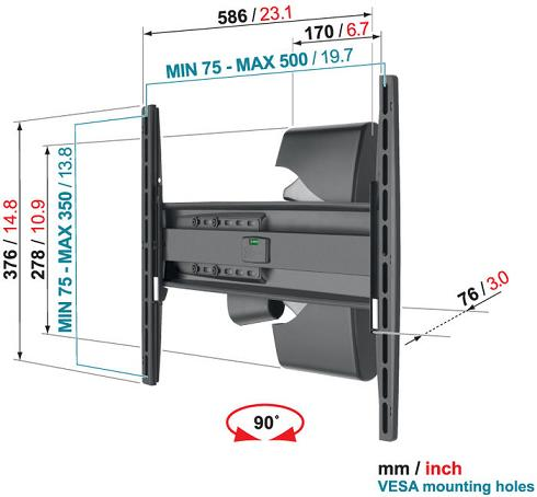 Uchwyt Vogels EFW8225 - Uchwyty do TV LCD / plazma / LED