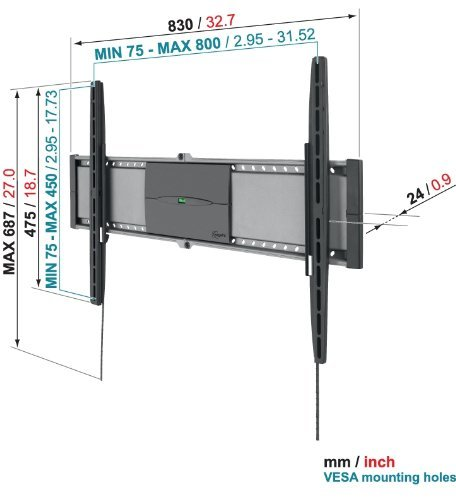Uchwyt Vogels EFW8305 - Uchwyty do TV LCD / plazma / LED