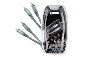 Kabel 2RCA-2RCA 0.5m audio Cabletech Silver Edition