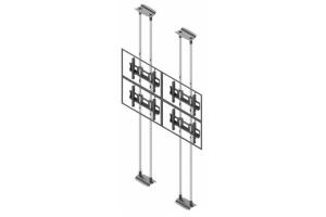 LCFC2257-L Uchwyt sufit-podłoga 2x2 do ściany wizyjnej 50