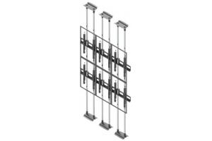 LCFC2357-P - Uchwyt typu sufit-podłoga do videowall 50